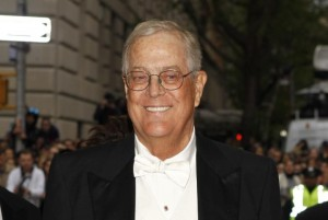 """Businessman David Koch arrives at the Metropolitan Museum of Art Costume Institute Gala Benefit celebrating the opening of """"Charles James: Beyond Fashion"""" in Upper Manhattan, New York May 5, 2014.  REUTERS/Carlo Allegri"""