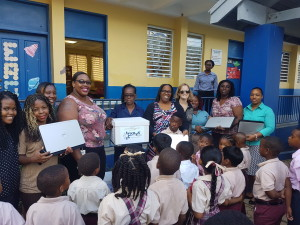 Krys Global donates IT equipment to local BVI schools